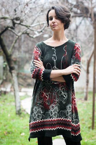 Rochie Sophie pentru alaptare discreta si sarcina, pt iarna, din lana si poliester - Produs nou la Ecomami!  http://bit.ly/1sZScQC