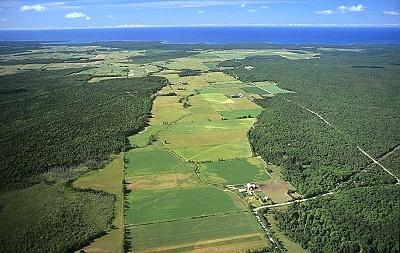 Manitoulin Island Farmland, Near Spring Bay. Ontario, Canada