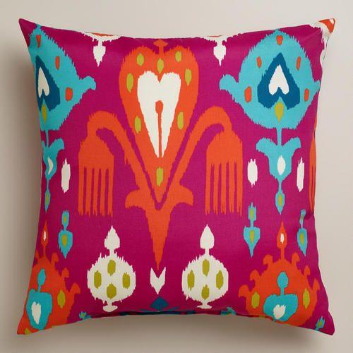Fuchsia Aberdeen Outdoor Throw Pillow