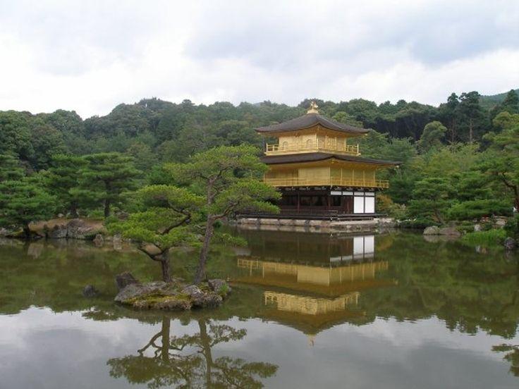 The Golden Pavillion at Kinkaku-ji Temple. The iconic image of Kyoto.