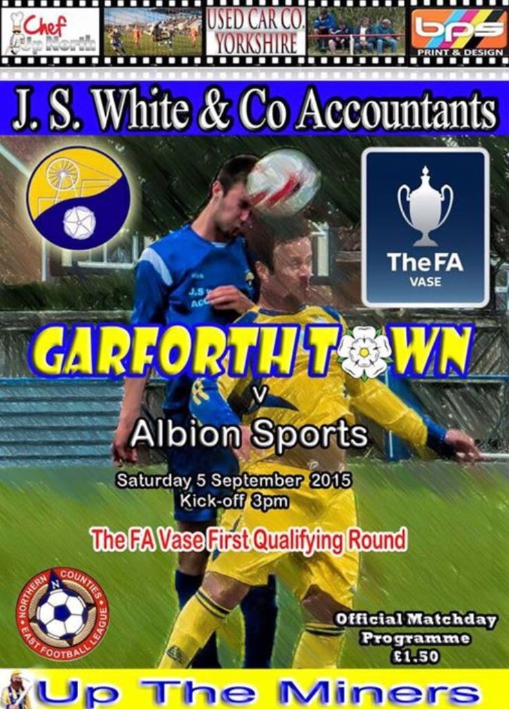 TOMORROW sees Garforth Town take on Albion Sports in the FA Vase at the Jonathon S White & Co Stadium, KO 3pm.   Bar open from 1pm, Hot Food and Snacks from the food trailer and kiosk from 1.30pm.   Grass roots at its finest ⚽️ #Garforth #Leeds