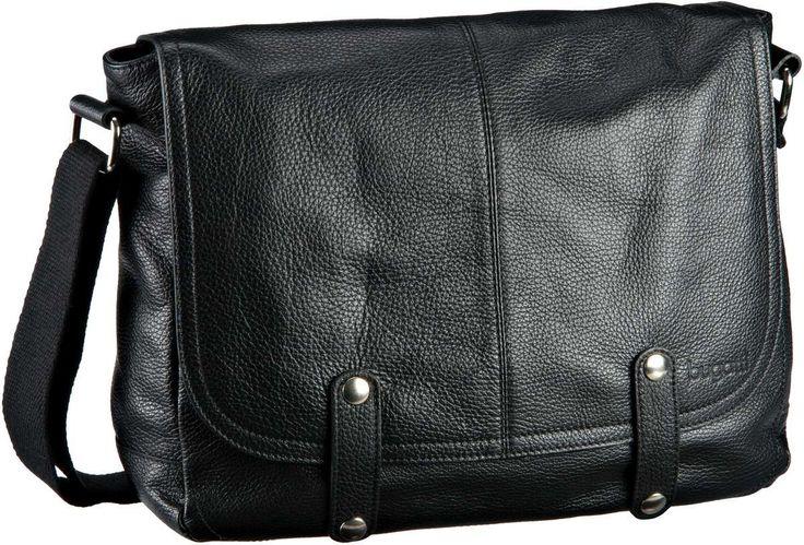 Bugatti Brisbane Messenger Bag Quer Medium Schwarz - Umhängetasche