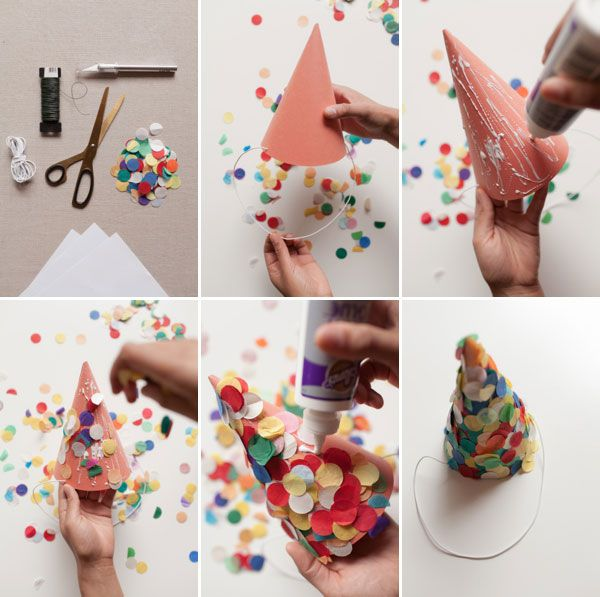 Confetti Party Hats #DIY