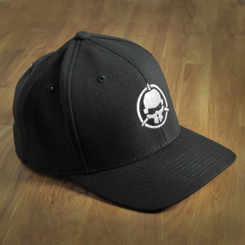 Rotor Riot Skull Logo Black Hat