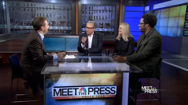 "Chuck Todd debated the value of political comedy shows like ""The Daily Show"" and ""Last Week Tonight"" with a panel of comedians on Sunday's edition of ""Meet The Press."" 
