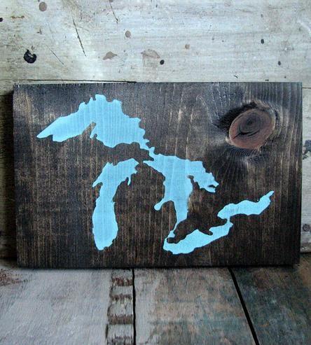 Great Lakes Pine Wood Art