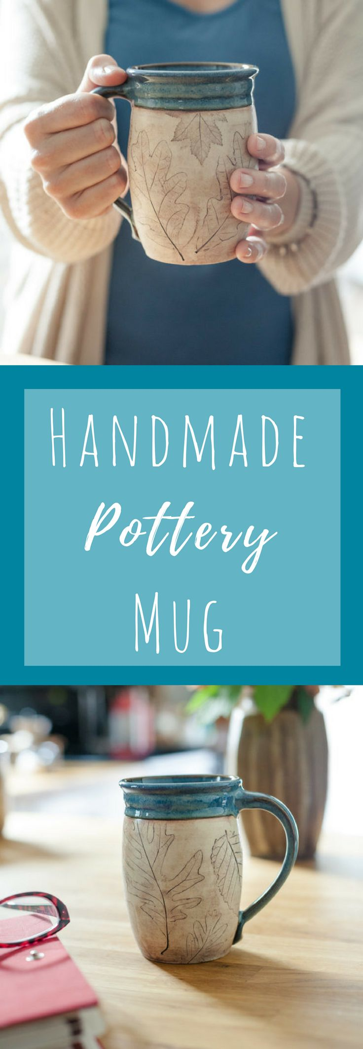 I love collecting coffee mugs and this one is just beautifully made! knowing that it is handmade makes it even more unique and i just love the pottery style! #coffeemug #pottery #giftidea #ad