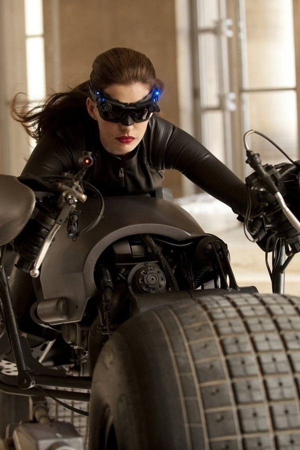 Anne Hathaway was an awesome catwoman! So fun to watch her in a different role. The banter between her and Christian Bale (Bruce Wayne) was hilarious!