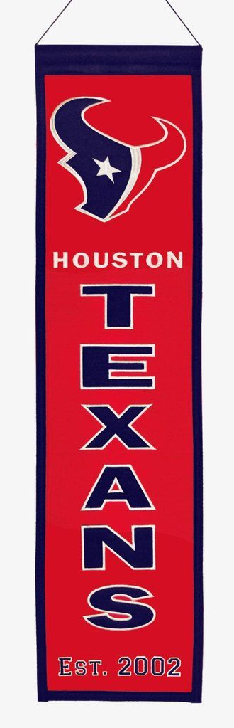 Houston Texans Banner 8x32 Wool Heritage Special Order