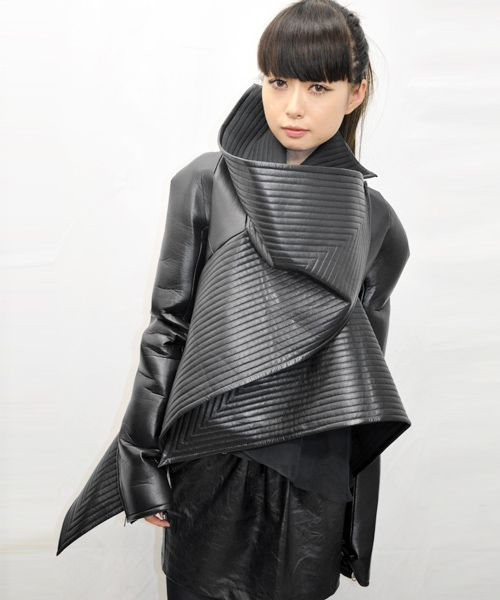 2012 | Black Leather Jacket by Gareth Pugh