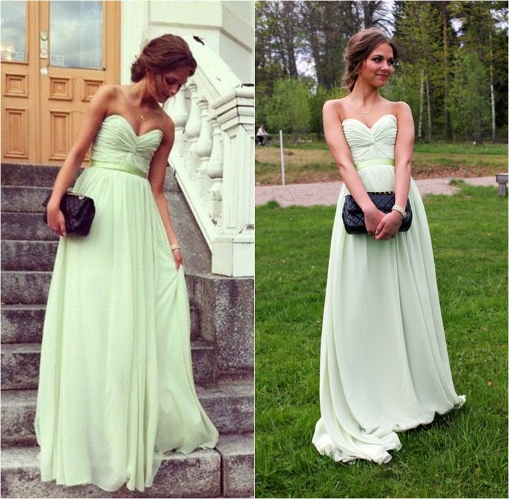 Mint Green Prom Dress, Chiffon Prom Dresses, Long Prom Dress, Prom Dresses 2016, Formal Dress Prom, Party Dresses
