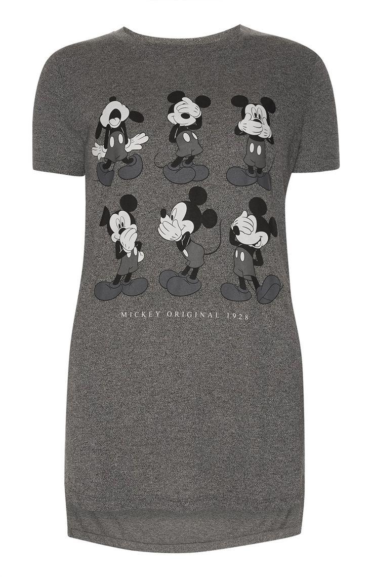 Primark - Grey Mickey Longline T-Shirt