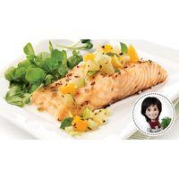 Pavés de saumon, salsa au fenouil et à l'orange de Josée di Stasio. Recette IGA #MieuxManger
