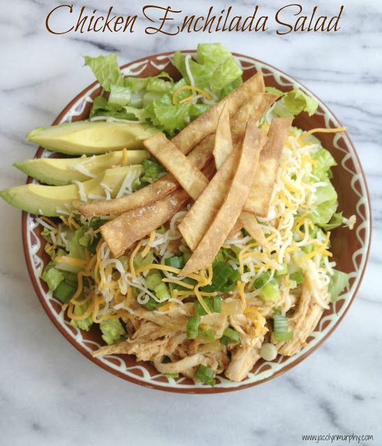 Chicken Enchilada Salad #recipemakers