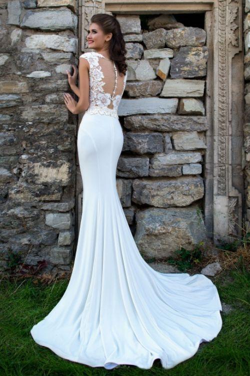 Dvojdielne svadobné šaty - body