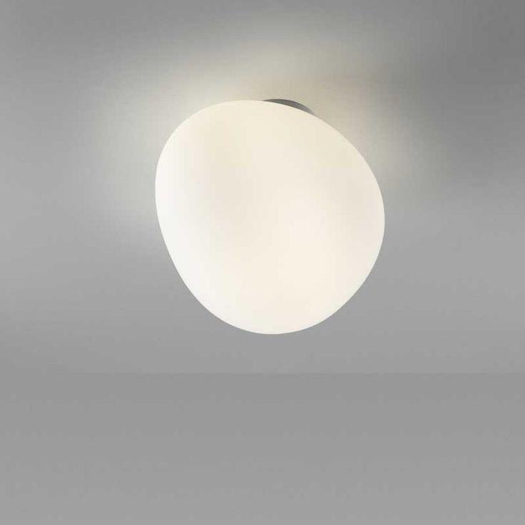 Gregg Taklampe/Vegglampe, medium hvit, Foscarini