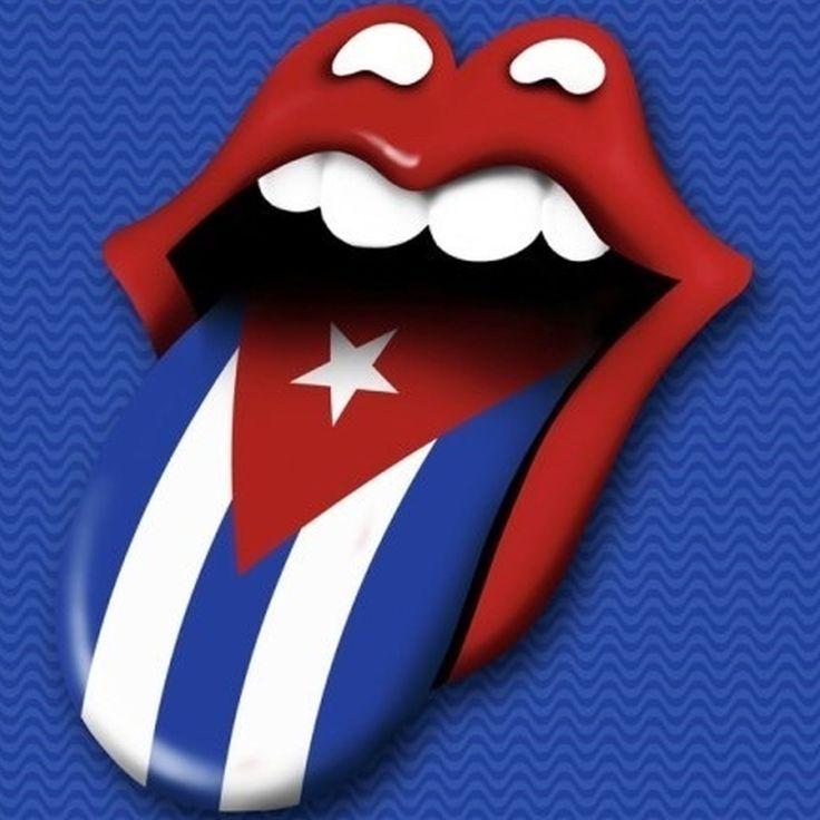 Cartel de la gira de los Rolling Stones en Cuba.
