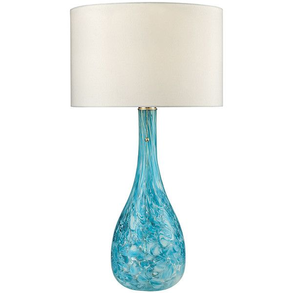 ELK Mediterranean Table Lamp ($140) ❤ liked on Polyvore featuring home, lighting, table lamps, glass table lamps, glass base table lamps, glass lamps, mediterranean lighting and glass base lamps