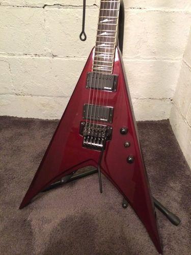 esp ltd v 250 flying v electric guitar rare pro set up low korea emghz fr case. Black Bedroom Furniture Sets. Home Design Ideas