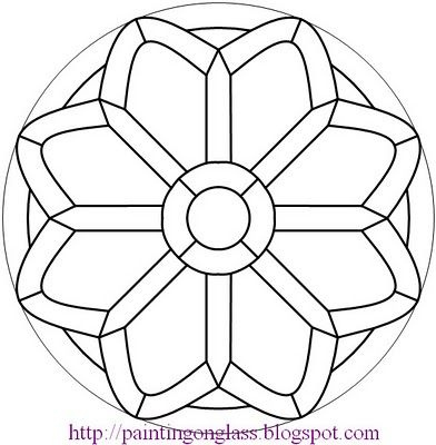 glass painting patterns free free stained glass patternchurch rose painting on glass - Patterns For Painting