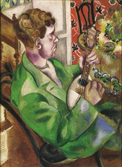 The Mandoline Player (David, the Artist's Brother, Playing the Mandolin) - Marc Chagall, 1914-1915. Atheneum Museum, Helsinki http://www.ateneum.fi/en