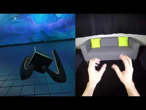 Leap Motion's Hand-Tracking Running on Mobile VR - YouTube