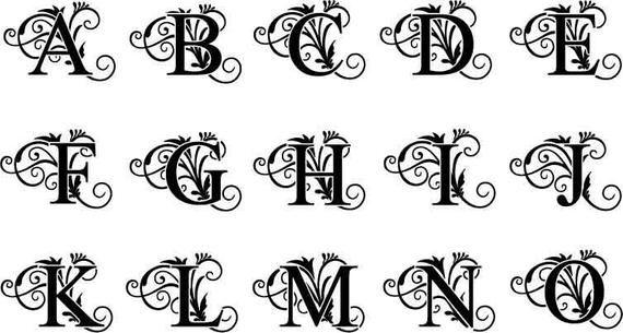 Monogramm Alphabet Svg Monogrammbuchstaben Hochzeit Schrift Etsy Monogramm Alphabet Monogramm Buchstaben Monogramm