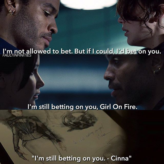 Cinna - I was so sad when Cinna died, he was defiantly one of my favourite characters and he didn't deserve to die Q|: What's your favourite sport?