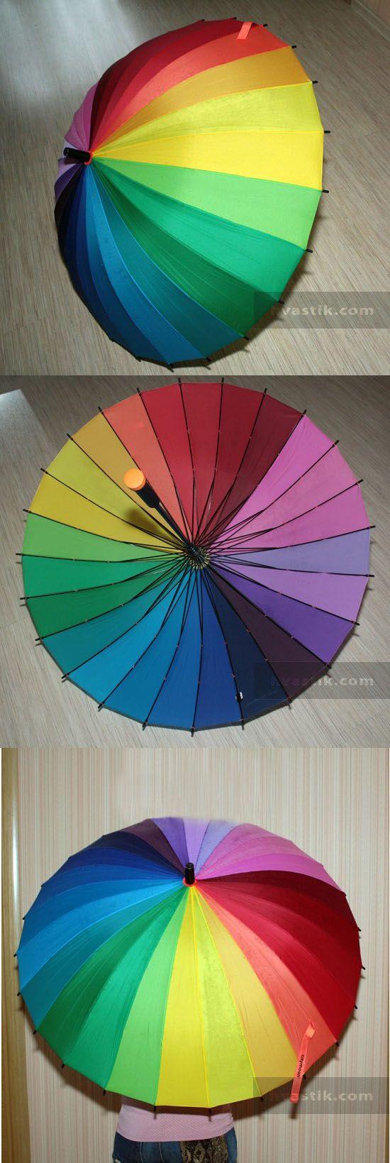 Отзыв о покупке радужного зонта с #aliexpress, #алиэкспресс, #зонт