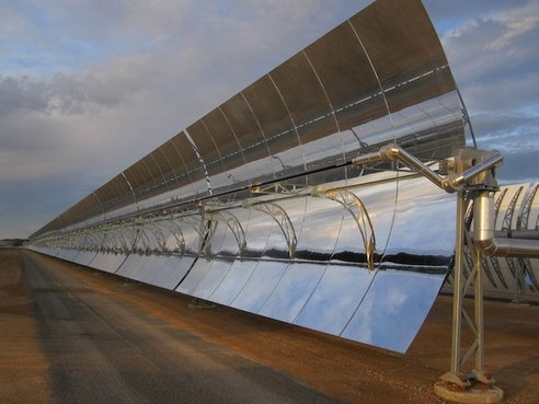 Two identical 50 megawatt solar thermal plants are now up and running in Spain by Torresol energy via treehugger