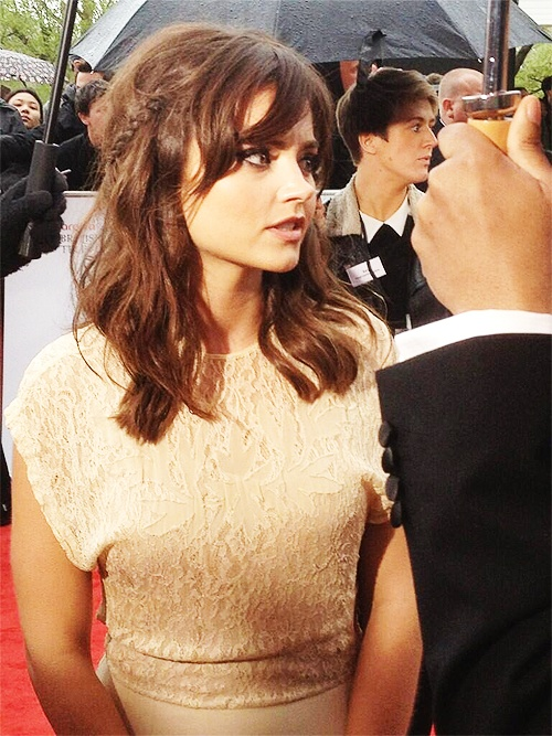 Jenna-Louise Coleman at the BAFTA TV Awards - did my little's hair like this this morning. ♥ Normally won't let me touch it, but I told her it's how Clara wore her hair in REAL LIFE