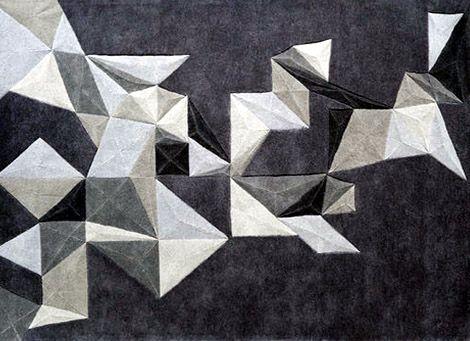 Graphic pattern carpet.