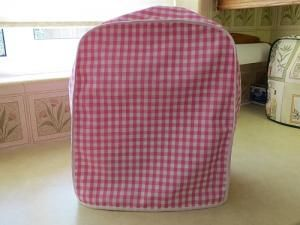 Magimix Cover Pink White Check cotton