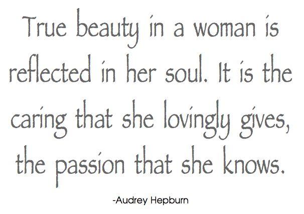 True Beauty In A Woman....