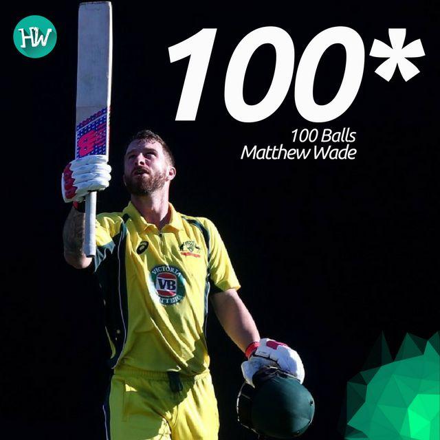 Matthew Wade hit his maiden ODI century to help Australian Cricket Team put on a strong total! #AUSvPAK #cricket