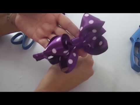 Como Fazer Laço de Fita de Cetim e Aplicar Na Tiara/Diy Ribbon Aula 60 - YouTube