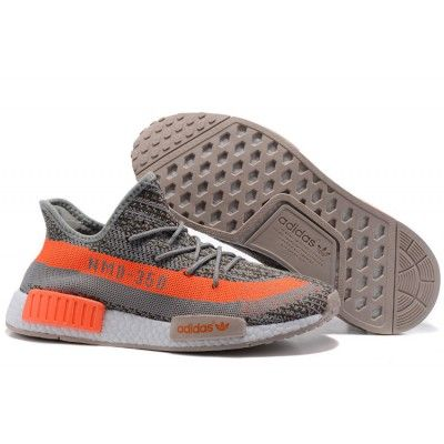 ebca27b809f Adidas NMD x Yeezy Boost 350 Shoes Steeple Grey Solar Orange ...