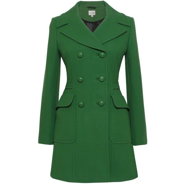 Kaliko Tailored Pea Coat, Bright Green