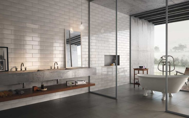 CALX  A simple, captivating collection combining the old-fashioned touch of low walls and mosaics in vintage style with the minimalism of today's designs.
