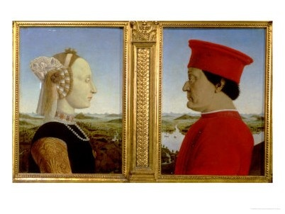 Art History courses in Florence with Waldemar H. de Boer. Paintings: Piero della Francesca, Uffizi Gallery Florence.