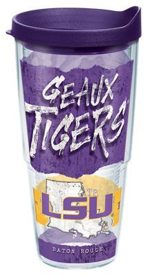 Tervis Tumbler Collegiate Statement Insulated Wrap with Lid - 24 oz - Louisiana State University:… #Fishing #Boating #Hunting #Camping