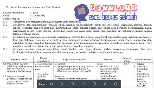 Download Rpp Kelas 1 K13 Revisi 2017