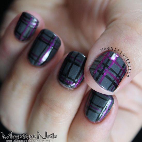 Tartan Nail Tutorial - Glam Express