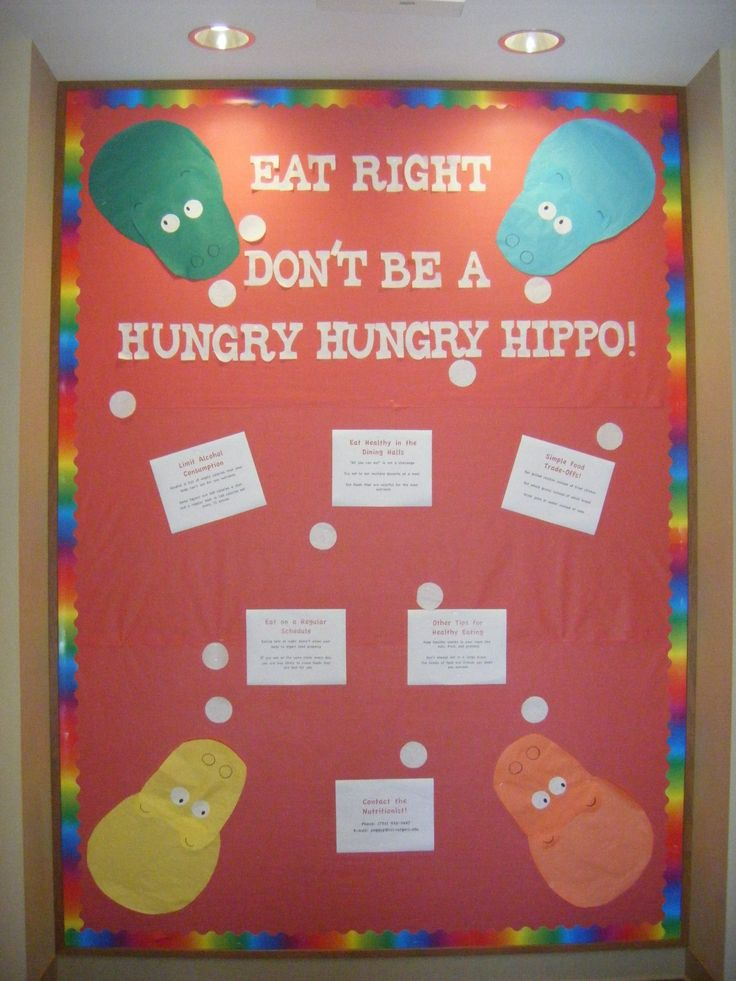 My bulletin board on how to avoid the freshman 15... - Fuck Yeah Res Life!