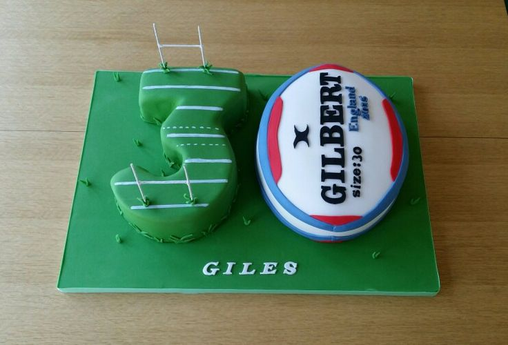 Rugby themed cake                                                                                                                                                                                 More