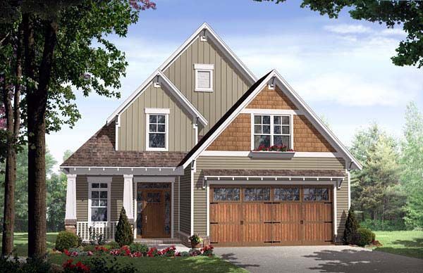 Bungalow cottage country craftsman house plan 59154 for Country craftsman home plans