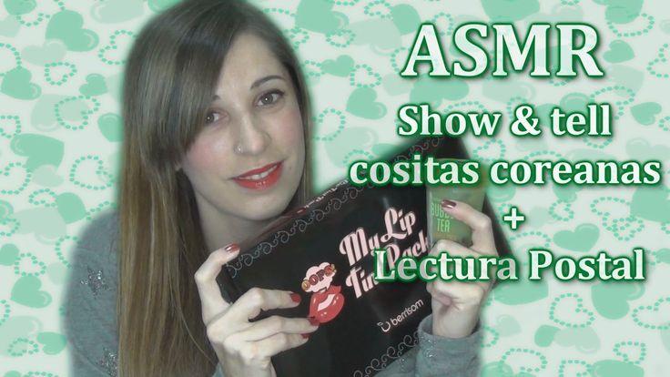 ASMR spanish show & tell Korean products / whispered reading