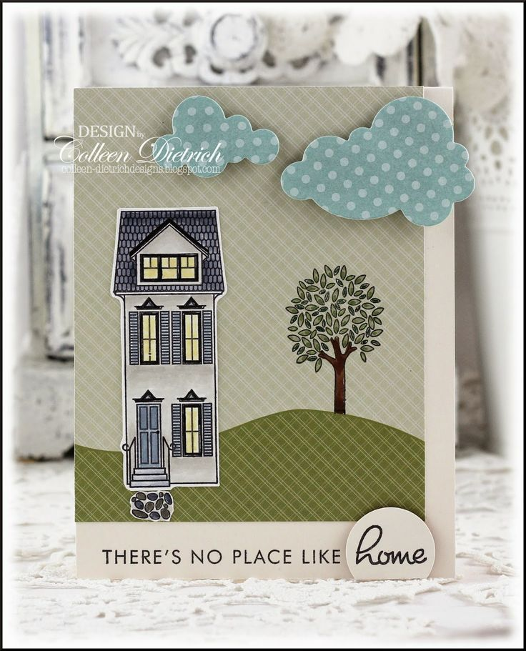 home design card. There s No Place Like Home  Dietrich Designs new home card using clouds die and 46 best Cards New images on Pinterest cards