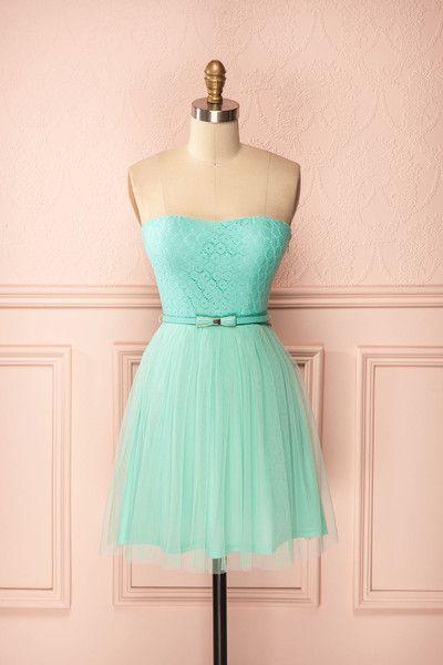 Cossette Aqua ♥ Si Daisy Duck se décidait à renouveler sa garde-robe estivale, soyez assurées qu'elle choisirait cette petite robe d'un charme indéniable !