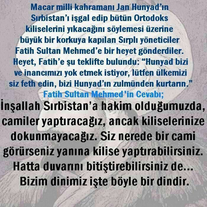 Osmanlı Devleti hayrat ve hasenat devletiydi. Kimsenin malına, canına, dinine, ırkına karışmadığı gibi onları korumuş kucaklamıştır.